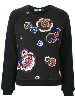 MSGM - Floral Print Sweater
