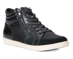 Calvin Klein  - Leather High-Top Sneakers