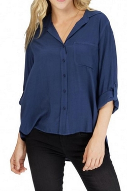 Velvet Heart - Indigo Button Down