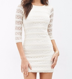 Forever 21 - Contemporary Striped Lace Dress