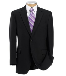 Jos. A. Bank - Executive Wool Suit with Pleated Front Trousers Regal Fit