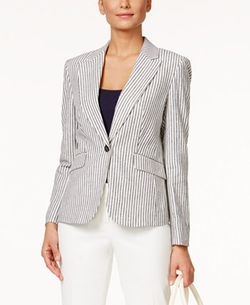 Nine West - Seersucker One-Button Jacket