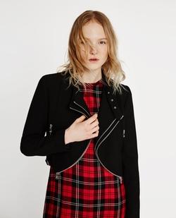 Zara - Cropped Jacket with Zips