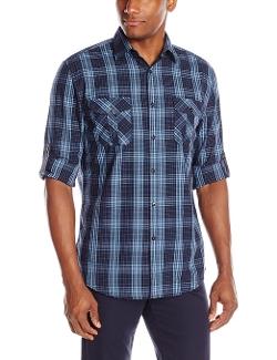 Axist - Long Sleeve Box Plaid Button Down Shirt