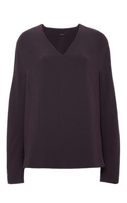 Joseph - Aubergine Odell Long Sleeve Blouse
