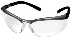 3M  - Anti-Fog Safety Glasses, Silver/Black Frame, Clear Lens