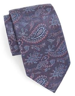 XMI Platinum  - Paisley Silk & Linen Tie