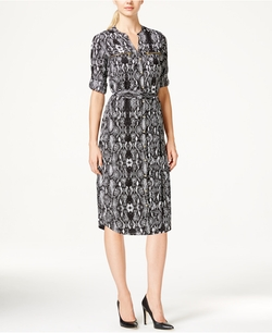 Calvin Klein - Python-Print Shirt Dress