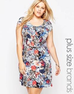 Praslin - Floral Print Body-Conscious Dress