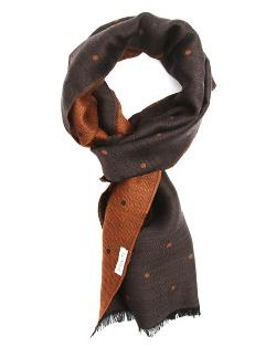 Hartford   - Light Brown and Dark Brown Spotted Scarf