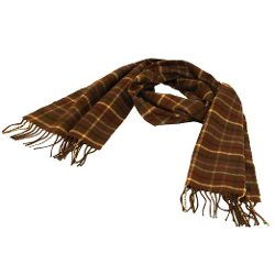 SK Hat Shop  - Plaid Long Fringe Scarf