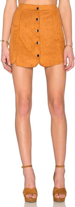 Toby Heart Ginger - Luna Suede Panel Skirt