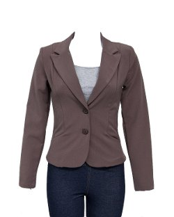 Clothes Effect  - Mocha Ladies Studio Jacket