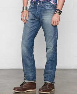 Denim & Supply Ralph Lauren  - Straight-Fit Traverse-Wash Jeans