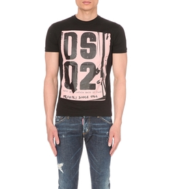 Dsquared - Chic Dan-Fit Cotton-Jersey T-Shirt