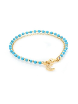 Astley Clarke  - Sapphire & Turquoise Moon Beaded Bracelet