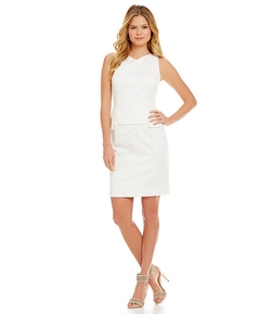Ellen Tracy - Floral Jacquard Sheath Dress