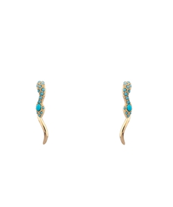 Noir - Climbing Snake Earrings
