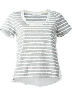 Sacai Luck  - Striped Satin Tim T-Shirt