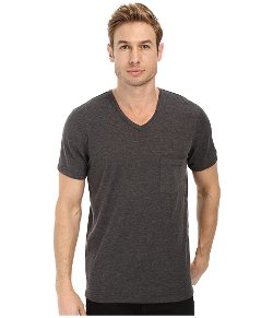 7 For All Mankind - Short Sleeve Raw V-Neck T-Shirt