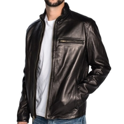 Cole Haan  - Lambskin Motorcycle Jacket