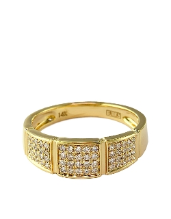 Effy D Oro - Yellow Gold & Diamond Band Ring