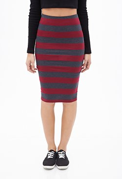 Forever21 - Striped Pencil Skirt