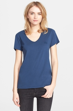 Burberry Brit  - Cotton V-Neck Tee