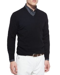 Brunello Cucinelli - Cashmere V-Neck Sweater