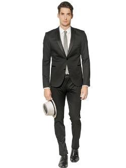 The Suits  - Stretch Cotton Satin Tuxedo Suit