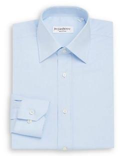Yves Saint Laurent  - Regular-Fit Cotton Twill Dress Shirt