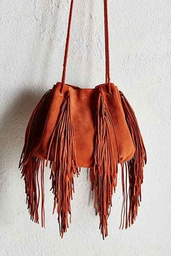 Urban Outfitters - Ecote Fringe Bucket Bag
