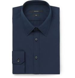 Gucci   - Cotton-Poplin Shirt