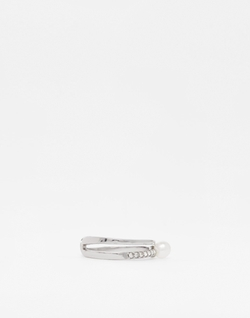 Asos Collection - Double Band Pearl Ring