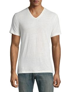 John Varvatos Star USA - Pintuck-Seam V-Neck Short-Sleeve T-Shirt
