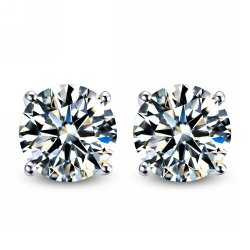 Body Fashion - Surgical Steel Diamond Mens Stud Earrings