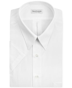 Van Heusen  - Poplin Solid Short-Sleeve Dress Shirt