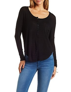 Charlotte Russe - Slouchy Henley Top
