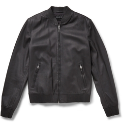 Gucci - Leather Bomber Jacket