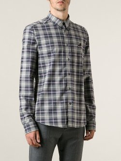 Kenzo  - Plaid Button Down Shirt