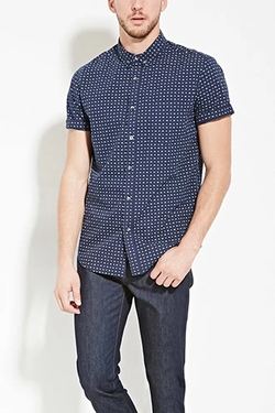 Forever 21 - Bicycle Print Cotton Shirt