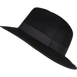 River Island - Black Felt Fedora Hat