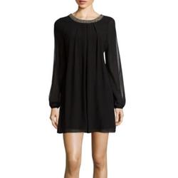 Speechless - Embellished Trim Dress