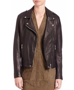 SET - The Tyler Leather Moto Jacket