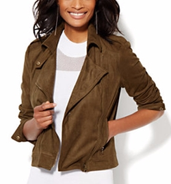 New York & Company - Ultra-Suede Moto Jacket