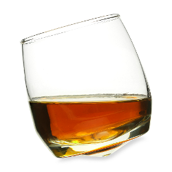 Sagaform - Rocking 7-Ounce Whiskey Glassware