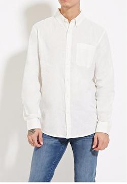 Forever21 - Linen-Blend Shirt