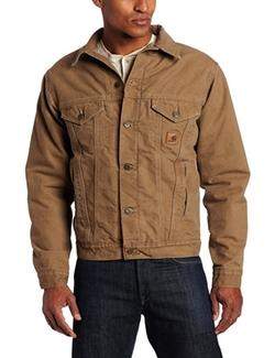 Carhartt  - Sherpa Lined Sandstone Denim Jacket