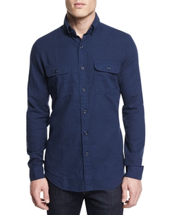Tom Ford - Flannel Long-Sleeve Sport Shirt