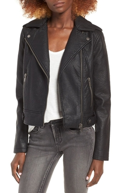 Collection B - Faux Leather Moto Jacket
